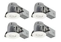 "Globe Electric 4"" IC Rated LED Swivel Spotlight Recessed Lighting Kit"