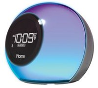 Bluetooth Colour Changing Dual Alarm Clock FM Radio with USB Charging