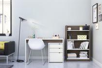 Nexera Chrono 3 Piece Home Office Set, Bark Grey and White