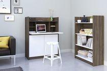 Nexera Chrono 2 Piece Home Office Set, Bark Grey and White