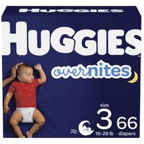 Couches pour bébés Huggies Overnites, Emballage Giga