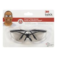 3M™Tekk Protection™XF4™ Safety Glasses, 90974-T-C, Black Frame, Light Silver Mirror Lens