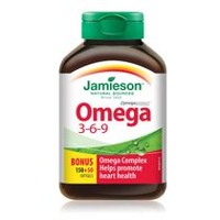 Jamieson Nature's Finest Omega 3-6-9 Softgels, 1 200 mg