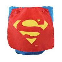Bumkins DC Comics - Caped Diaper - Superman - Reusable Diapers