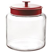 Pot Montana de 1,5 gallons avec couvercle en rouge d'Anchor Hocking