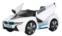 Trotteuse en blanc BMW i8 de Rollplay 6 volts
