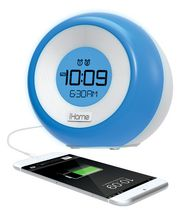 iHome Color Changing Dual Alarm FM Clock Radio with USB Charging - iM29