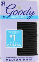 Goody Ouchless® No Metal Black Elastics Black