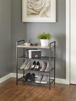 neatfreak! 4-Tier Shelf Storage Unit with Wood Top