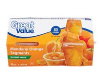 Great Value Whole Mandarin Orange Segments In light syrup