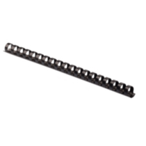 "Fellowes® 3/8"" Plastic Comb, 100/pk, Black"