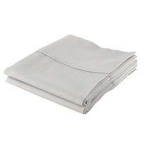 hometrends Cotton Percale Pillowcases Grey Standard