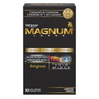 Condoms TROJAN Lubrifiant haut de gamme GOLD COLLECTION MAGNUM