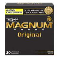 TROJAN MAGNUM Original Premium Lubricated Value Pack Condoms