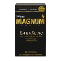 TROJAN MAGNUM BARESKIN Premium Lubricated Condoms
