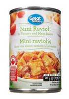 Great Value Mini ravioli dans un sauce tomate à la viande