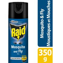 Raid Mosquito and Fly Insect Killer Spray, 350g