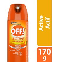OFF! Active Mosquito Insect Repellent Spray, 170g