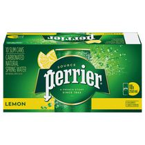 Perrier carbonated natural spring water with Lemon flavour