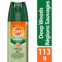 OFF! Deep Woods Mosquito Insect Repellent Spray Dry, 113g