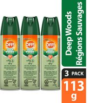 OFF! Deep Woods Mosquito Insect Repellent Spray Dry 3 Pack, 3x113g