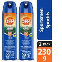 OFF! Deep Woods Sportsmen Mosquito Insect Repellent Spray 2 Pack, 2x230g