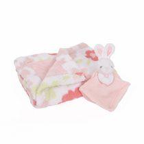 George baby Blanket with Security Blanket- Rabbit