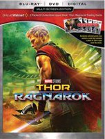 Thor: Ragnarok (Blu-ray + DVD + Digital HD) (Walmart Exclusive - includes 2 packs of collectible Upper Deck® Thor: Ragnarok trading cards with 5 cards in each pack.)