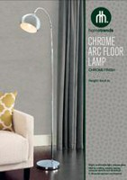 hometrends Chrome Metal Round Arch Floor Lamp