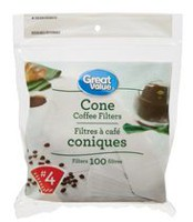 Great Value No. 4 Cone Coffee Filters