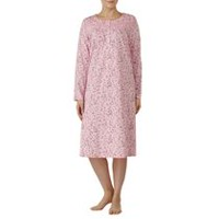 George Women's Long Sleeve Jewel Neck Gown Orchid pink S