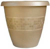 "Listo 14"" Mosaic Tall Planter with Internal Self Watering dish"