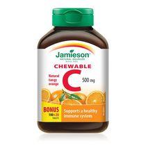 Jamieson Chewable Vitamin C 500 mg Tangy Orange Flavour