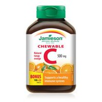 Jamieson Natural Tangy Orange Vitamin C Chewable Tablets, 500 mg