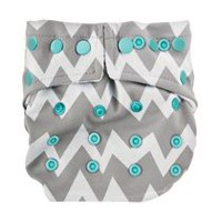 Bumkins - Snap in One Diaper - Reusable Diapers Grey