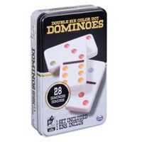 Cardinal Games  - Double 6 Color Dot Dominoes