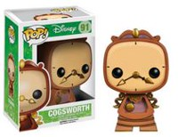 Figurine en vinyle Cogsworth de Beauty and the Beast par Funko POP!