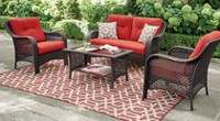 hometrends Tuscany 4-Piece Conversation Set Scarlet Red