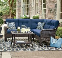 hometrends Tuscany 4-Piece Sectional Set Blue