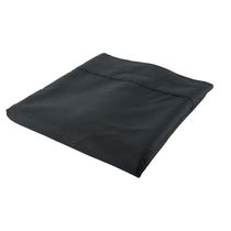 hometrends T300 Thread Count Cotton Percale Flat Sheet Black Twin