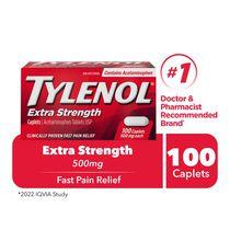 Tylenol Extra Strength Pain Relief Acetaminophen 500mg Caplets