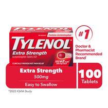 Tylenol Extra Strength Pain Relief Acetaminophen 500mg EZTabs