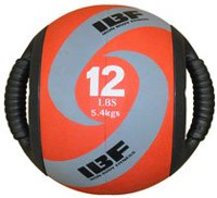 Iron Body Fitness Dual Grip 12 Lb Medicine Ball