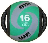Iron Body Fitness Dual Grip 16 Lb Medicine Ball