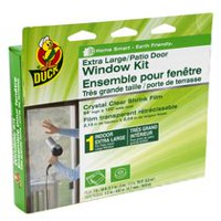 Duck® Brand 84 in. x 120 in. Extra Large/Patio Door Crystal Clear Shrink Film Window Kit