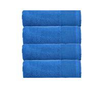 Camelot 4-Pack Hand Towel Set for Bathroom or Gym 600 GSM 100% Zero-Twist Cotton