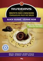 Rubbins Gluten Free Black Sesame Brown Rice Crackers