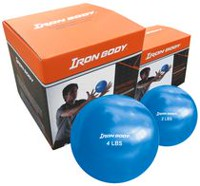 Iron Body fitness 4 Lb Toning Balls Pair