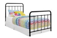 DHP Brooklyn Black Twin Bed