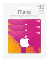 iTunes emballage groupé 30 $